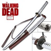 Official AMC Michonne's Walking Dead Katana With Wall Plaque and Poster